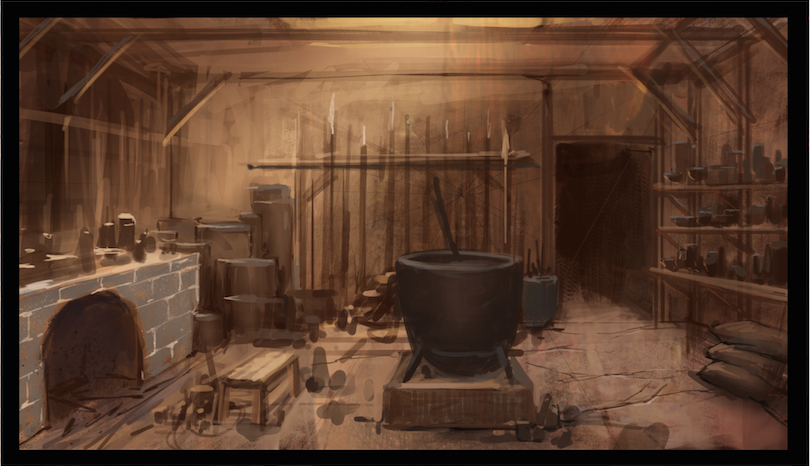 The inside of the Shiftling cottage inspired by Randize.